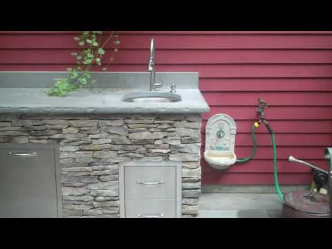 Outdoor Kitchen Addition - Reclaimed Stone