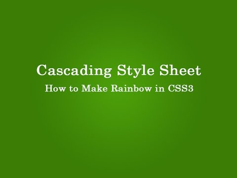 how to make rainbow in css3