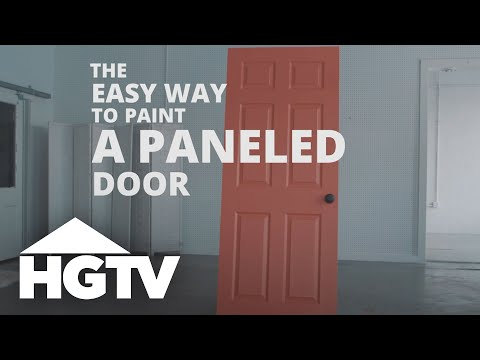 How to Paint a Paneled Door - HGTV