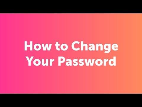 How Do I Change My Password?