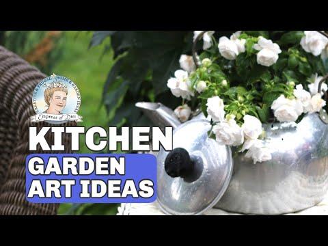 10 Ideas for Garden Art from Your Kitchen || Empress of Dirt