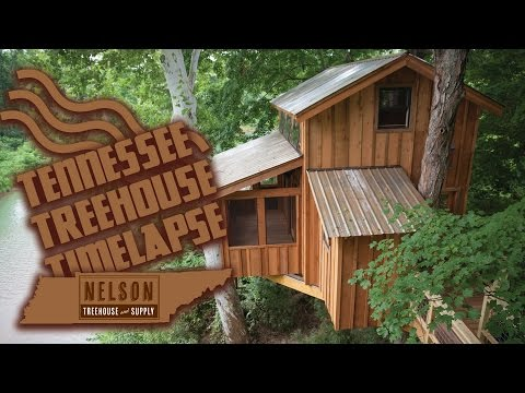 Treehouse Timelapse in Tennessee