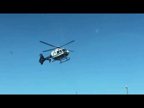 Camera shutter speed almost matches helicopter's rotor