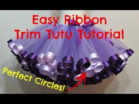 HOW TO: Make a Ribbon Trim Tutu with Perfect Circles by Just Add A Bow