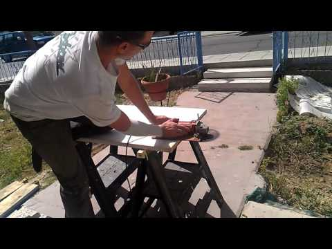 Stronger joins without a biscuit joiner, using angle grinder.