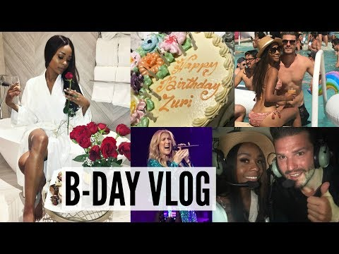 MY WILD VEGAS B-DAY: LUXURY HOTEL SUITE, POOL PARTY, HELICOPTER RIDES & CELINE DION!! (VLOG)