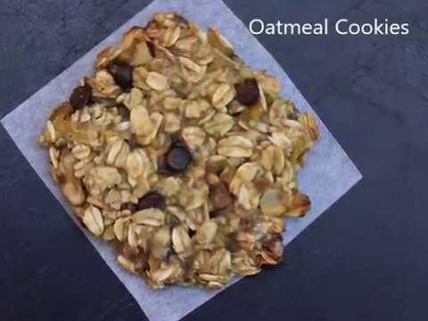 Oatmeal cookies | banana oat cookies | Breakfast cookies | oat cookies