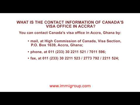 What is the contact information of Canada's visa office in Accra?