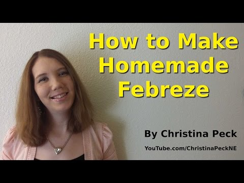 DIY Fabric Freshener! How to Make Homemade Febreze
