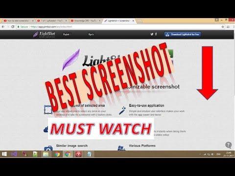 How To Take Screenshot in Windows Laptop/Desktop/PC || Print Screen with Lightshot [Hindi/Urdu]