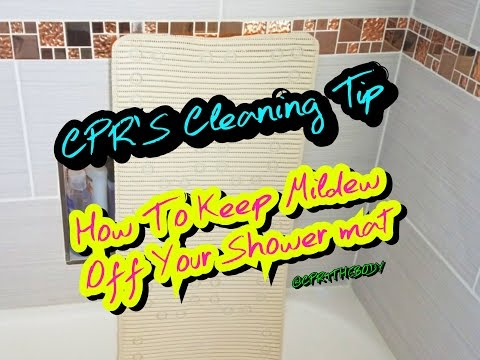 Bathroom Cleaning Tip, No More Nasty Mats🙄😁|CPR4THEBODY |
