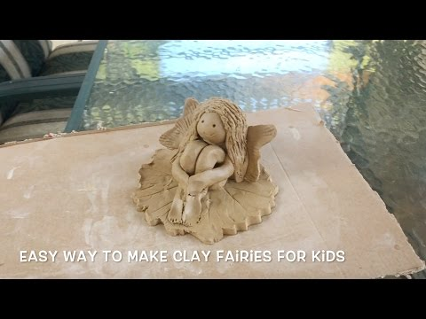 Tutorial: Easy Way to Make Clay Fairies for Kids and Beginners