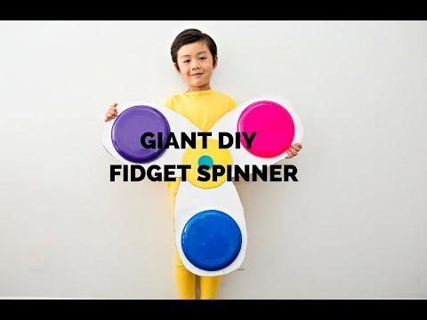 DIY GIANT FIDGET SPINNER CARDBOARD COSTUME