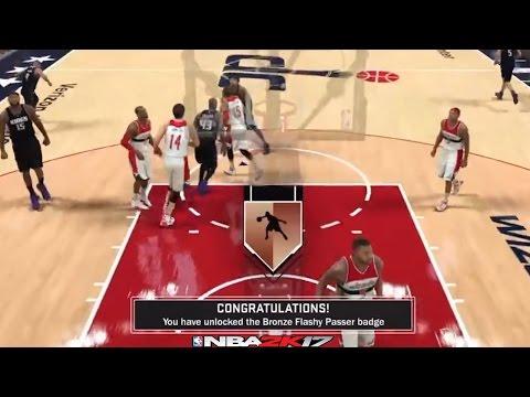 NBA 2K17 Badge Tutorial | Flashy Passer | ⋆#NBA2K17⋆ 🎮