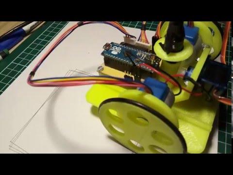 Logo turtle robot with arduino