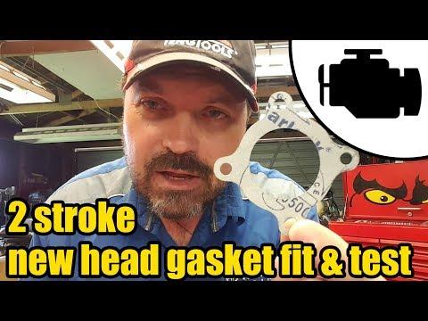 Polaris 50cc 2 stroke - head gasket install & test pt.2 #1167