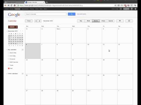 Using Google Calendars to Create a Shift Calendar