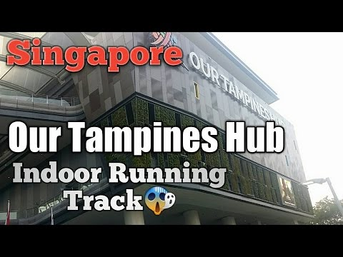 The Tampines Hub Got A  indoor Running Track Singapore