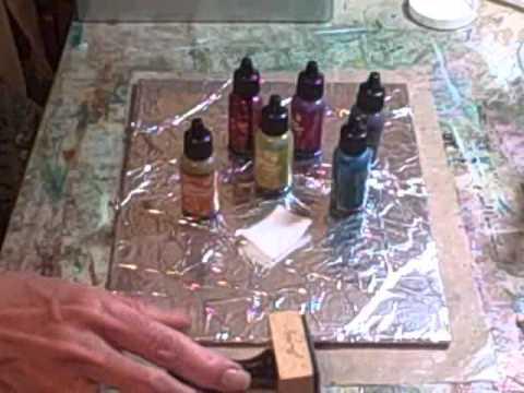 tin foil alcohol ink technique
