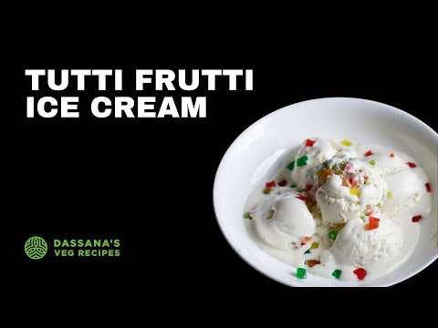tutti frutti ice cream recipe (4 ingredients) | eggless, no cook, no ice cream maker