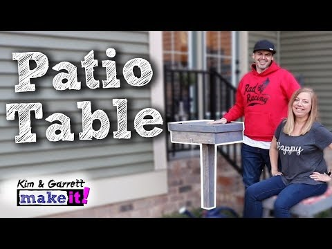 How To Make A Backyard Patio Table DIY Outdoor Furniture
