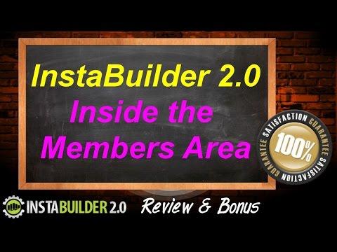 InstaBuilder 2.0 Review & Bonus - Members Area Sneak Peak