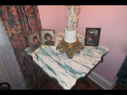HOW TO REFINISH A MARBLE TABLETOP EASILY.
