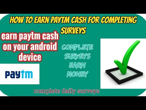 How to earn paytm cash for completing surveys