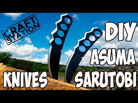 How to make Asuma Sarutobi knives Naruto Diy with templates