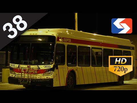 SEPTA Ride: 2017 New Flyer XDE40 on route 38 to Wissahickon Transportation Center