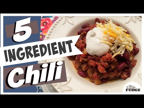 5 Ingredient CHILI || Quick & Easy || How to RECIPE || Cooking 101