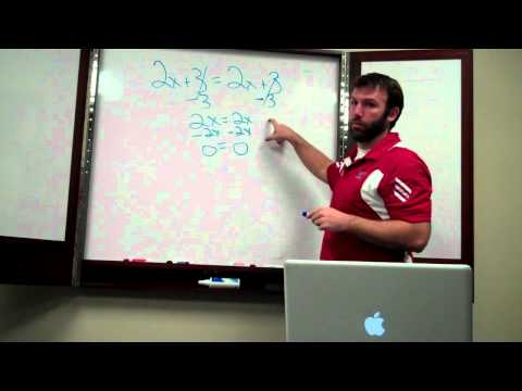 Solving Equations Special Situations 001