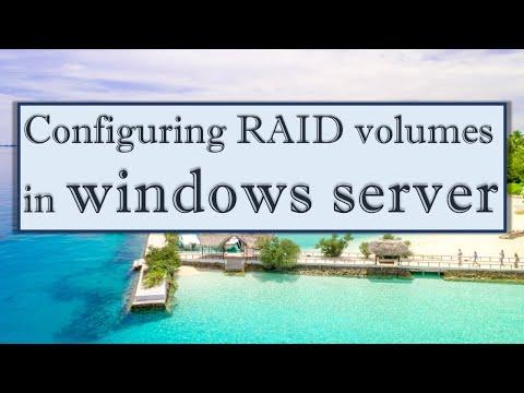 Configuring RAID volumes in Windows Server 2012 R2