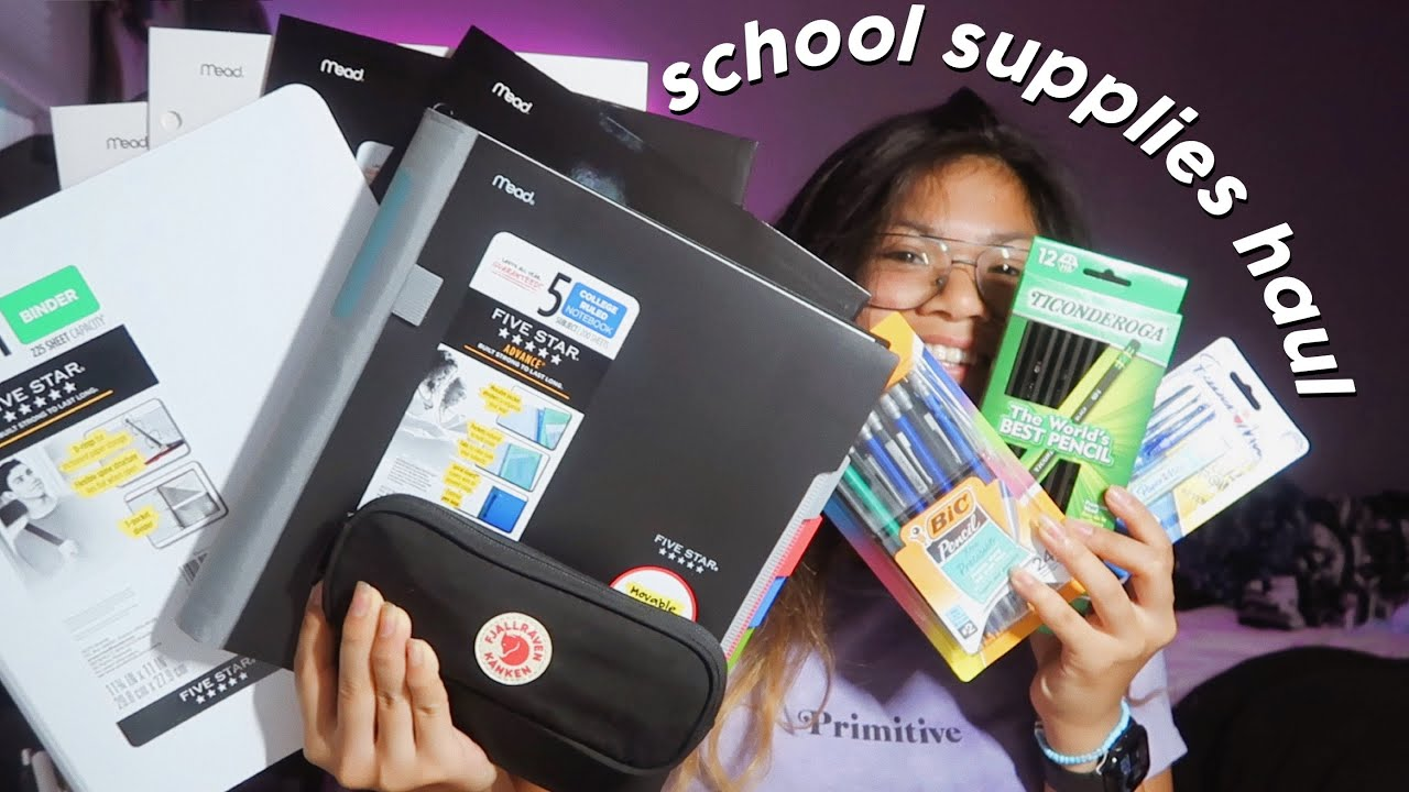 back to school supplies haul *realistic* | high school junior