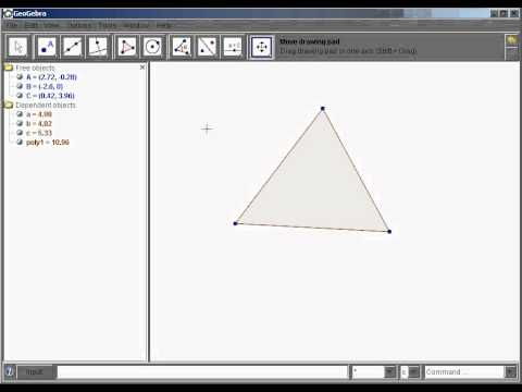 How to construct the centroid of a triangle in Geogebra