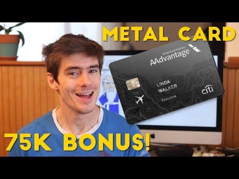 New METAL CARD and 75k BONUS on the AAdvantage Executive Mastercard
