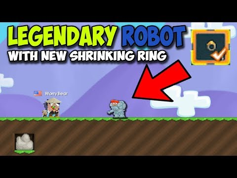 Growtopia | Legendary Robot with SHRINKING RING?