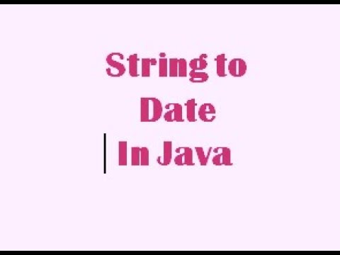 Convert String To Date in Java. important question for java interview