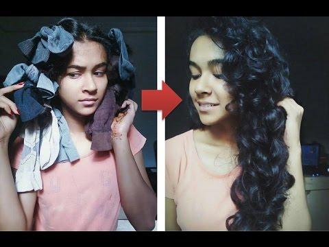 Heatless Curls Using Socks! Must Try   Works 100%