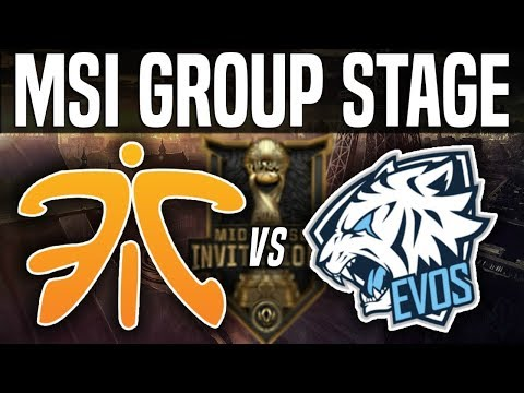 FNC vs EVS - MSI 2018 Group Stage Day 5 - Fnatic vs EVOS Esports | League Of Legends MSI 2018