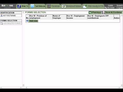 AceTax Online - Canadian NETFILE Tax Software - Demo