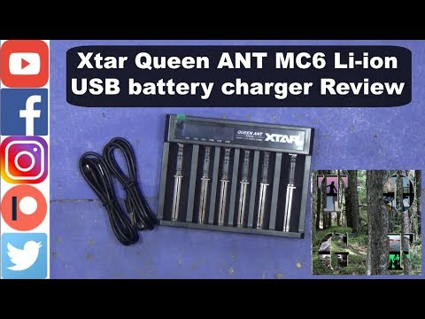 Xtar Queen ANT MC6 Li-ion USB battery charger Review