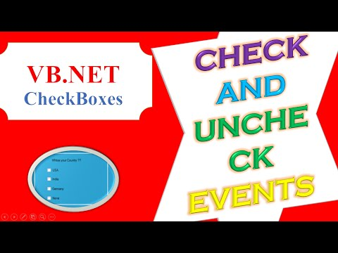 VB.NET CheckBoxes  Check and UnCheck  Events