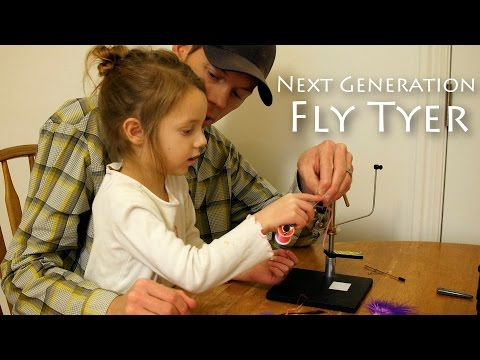 Next Generation Fly Tyer - 4 Year Old on the Vise!!!