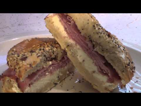 Fast and easy bagel cream cheese and ham