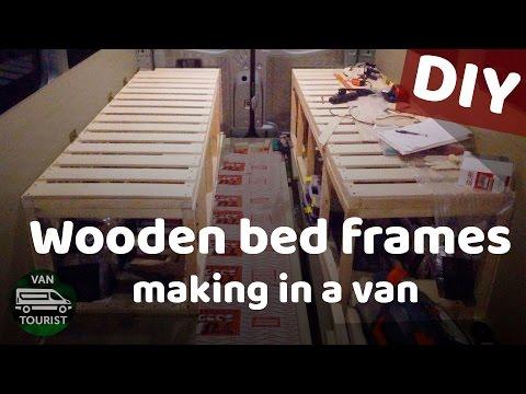 Building a campervan bed frame for van conversion camping motorhome DIY project