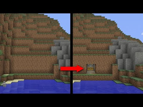 Minecraft PS4 -   SURVIVAL SECRET BASE - Easy Tutorial ( PE / XBOX / PS3 / WII U )