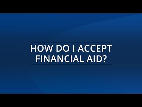 How Do I Accept Financial Aid?