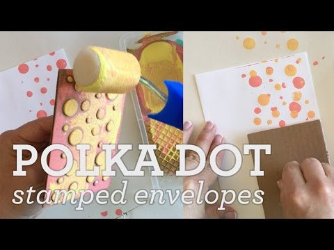 DIY Polka Dot Stamped Envelopes