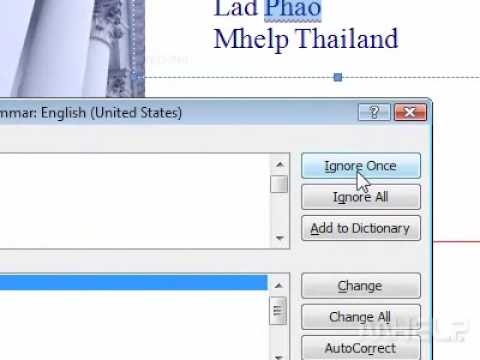 How to check the spelling and grammar of a document Word